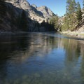 A pleasant afternoon float in the beginning of Impassable Canyon.- Middle Fork of the Salmon River - Day 5