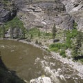 An interesting perspective of Wall Creek (Porcupine) Rapid.- Middle Fork of the Salmon River - Day 5