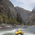 Goalpost Rapid offers a big low water hit!- Middle Fork of the Salmon River - Day 5