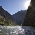 Sun and shade.- Middle Fork of the Salmon River - Day 5