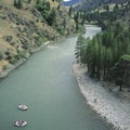 Looking down onto the bend at Survey Camp- Middle Fork of the Salmon River - Day 5