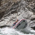 3, 2, 1...launch. Cliffside Rapid at low water.- Middle Fork of the Salmon River - Day 5