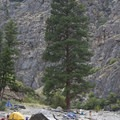Cliffside Camp is, counterintuitively, NOT next to Cliffside Rapid.- Middle Fork of the Salmon River - Day 5
