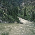 Confluence with Big Creek at high water (over 6 feet).- Middle Fork of the Salmon River - Day 5