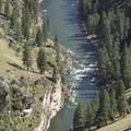 Looking down onto Cutthroat Cove Rapid.- Middle Fork of the Salmon River - Day 5