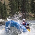 Taking a hit in Cutthroat Cove.- Middle Fork of the Salmon River - Day 5