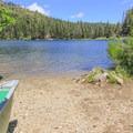 Packer Lake's boat ramp.- Packer Lake Day Use Area