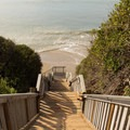 The many stairs that lead down to the beach.- Mesa Lane