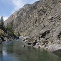 The view looking up canyon from the top of Clamshell Rock.- Middle Fork of the Salmon River - Day 6