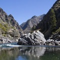 Clamshell Rock at September flows (2 feet).- Middle Fork of the Salmon River - Day 6