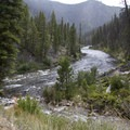 A view up the Middle Fork from the mouth of Elkhorn Creek.- Middle Fork of the Salmon River Trail – Day 1