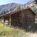The cabin at Cougar Creek Ranch.- Middle Fork of the Salmon River Trail – Day 4