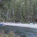 A commercial outfitter's support camp at Upper Jackass Camp (RM 38.1)- Middle Fork of the Salmon River Trail – Day 4