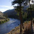 Nice slanting light on a crisp August morning along the Middle Fork.- Middle Fork of the Salmon River Trail – Day 4