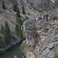 Group photo at the top of yet another stunning overlook.- Middle Fork of the Salmon River Trail – Day 5
