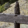 A very old and curious sign due to the lack of any trail on the opposite side of the river.- Middle Fork of the Salmon River Trail – Day 6