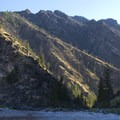 Looking back up to the confluence with Big Creek.- Middle Fork of the Salmon River Trail – Day 6