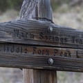 Trail sign pointing to the Middle Fork Peak fire lookout.- Middle Fork of the Salmon River Trail – Day 6