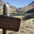 Hikers can cross the river and hike back up to the Flying B Ranch store to purchase a few treats for the trail.- Middle Fork of the Salmon River Trail – Day 6