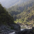 Looking downstream toward Blossom Bar in the late afternoon.- Rogue River: Grave Creek to Foster Bar