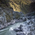 The tail waters of Coffee Pot Rapid in Mule Creek Canyon.- Rogue River: Grave Creek to Foster Bar