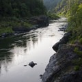 The trail offers some great vistas of the Rogue River.- Rogue River: Grave Creek to Foster Bar