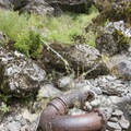 Relics of the river's hydraulic mining history can be found all over the river.- Rogue River: Grave Creek to Foster Bar