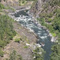 Looking down onto Blossom Bar Rapid.- Rogue River: Grave Creek to Foster Bar
