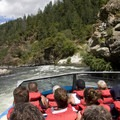 The view from a 50-passenger jet boat en route to the bottom of Blossom Bar.- Rogue River: Grave Creek to Foster Bar
