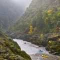 Rainfall brings out the vibrant colors in Huggins Canyon.- Rogue River: Grave Creek to Foster Bar