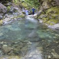 A hike up East Creek is reminiscent of desert slot canyons.- Rogue River: Grave Creek to Foster Bar