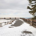 Most of the paved pathway to Point Supreme is iced over by December.- Point Supreme