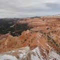The northwest view toward a less snowy Chessman Ridge.- Point Supreme