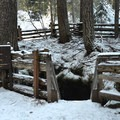 Stairs to the Guler Ice Caves entrance.- Guler Ice Caves