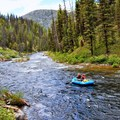 Beginning the trip from Boundary Creek put-in.- Middle Fork of the Salmon River - Day 1