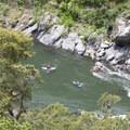 Kayakers enjoying the Rogue.- Rogue River Trail - Day 1