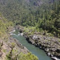 The trail makes a spectacular loop through Huggins Canyon with some dramatic views.- Rogue River Trail – Day 3