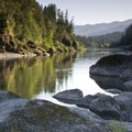 Scenic river sunset- Rogue River Trail – Day 3