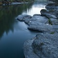 Dusk along the Rogue at the Flora Dell Campsite.- Rogue River Trail – Day 3