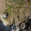 The double cascade of Stari Creek Falls just below Mule Creek Canyon.- Rogue River Trail – Day 3