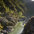The Rogue boils far below at one of the highlights along the trail, Inspiration Point.- Rogue River Trail – Day 3