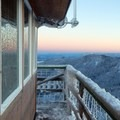 Clear views from the Warner Mountain Lookout Tower the morning after a storm.- Warner Mountain Lookout Tower