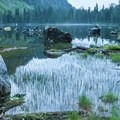 Heather Lake at dusk.- Heather Lake