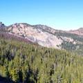 A view of High Lake from the High Lake Rim Trail.- Slide Lake via High Lake