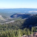 Looking south down Lake Creek Canyon.- Slide Lake via High Lake