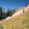The trail between High Lake and Slide Lake.- Slide Lake via High Lake