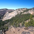 Looking back toward High Lake from the lake's eastern rim.- Slide Lake via High Lake