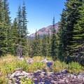 Slide Creek runs north from Slide Lake.- Slide Lake via High Lake