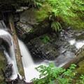 Triple Creek Falls is a small and beautiful series of cascades.- Triple Creek Falls