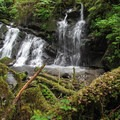 Triple Creek Falls.- Triple Creek Falls